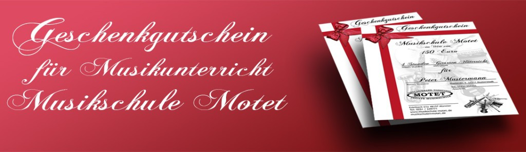 News 2016 Geschenkgutschein fuer Musikunterricht Muenster Musikschule Muenster Gutschein 1024x296 - Gutscheine